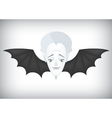 Vampire airlines regular flights on Halloween vector image vector image