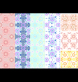 Variations of floral seamless background vector image