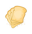 white bread set of 4 slices toast bread vector image vector image