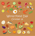 world food day poster template and background vector image