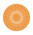 yellow mandala decoration retro texture element vector image vector image