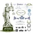 Femida ornamental set vector image