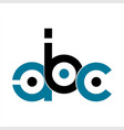 abc initials letter company logo and icon vector image