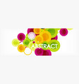 abstract colorful geometric composition vector image