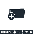 Add Folder icon flat vector image vector image