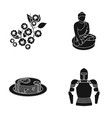 ages history museum and other web icon in black vector image vector image