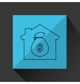 bag money business hand finance vector image vector image