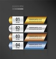 banner and label design gold bronze silver blue co vector image vector image
