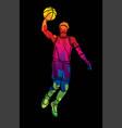basketball player action cartoon sport vector image vector image
