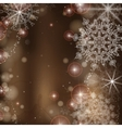 Brown Background With Snowflakes vector image vector image