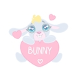 Bunny With Heart Shaped Sign vector image