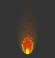 burning fire flame flying sparks of fire vector image