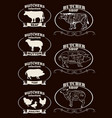 butchers shop vector image