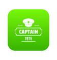 captain icon green vector image