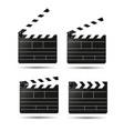clap movie board clapper vector image vector image