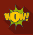 comic boom icon flat style vector image vector image