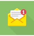 concept email notification icon vector image vector image