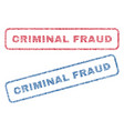 Criminal fraud textile stamps vector image