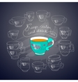 cups handwritten words Keep Calm and Drink vector image