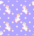 cute unicorn pattern magic baby vector image