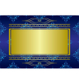dark blue card with golden decorations vector image vector image