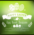 easter card on green background vector image vector image