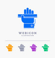 education hand learn learning ruler 5 color glyph vector image vector image