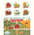 farm house set vector image