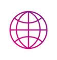 globe world connection social media button vector image vector image