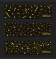 golden confetti banners vector image vector image