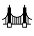 golden gate bridge solid vector image