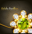 golden rakhi for rakshabandhan vector image vector image