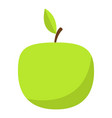 green apple icon flat style vector image vector image