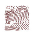hand drawn summer beach line vector image