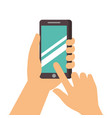 hand touch screen mobile phone vector image