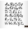 Handwritten calligraphic black watercolor alphabet vector image vector image