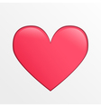 heart icon pink creative on light gray back vector image
