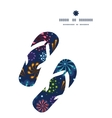holiday fireworks flip flops silhouettes pattern vector image vector image