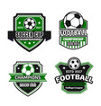 icons for soccer championship football cup vector image vector image