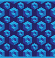 isometric seamless pattern with cubes vector image vector image