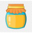 jar honey icon cartoon style vector image vector image