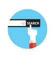 Line Icon with Flat Graphics Element of Search vector image vector image