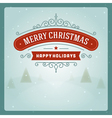 Merry Christmas greeting card ornament decoration vector image vector image