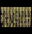 metallic bronze gold silver chrome copper vector image vector image