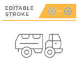 military truck line icon vector image