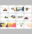 Minimal brochure templates with triangular design