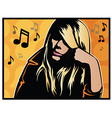 Music Girl vector image