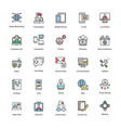 network and communication flat icons vector image