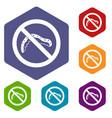 no caterpillar sign icons set vector image vector image