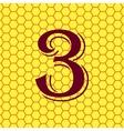 number three icon symbol Flat modern web design vector image